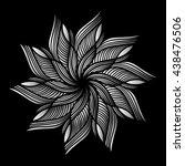 mandala. silver round ornament... | Shutterstock .eps vector #438476506