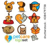 pet care logo logo set | Shutterstock .eps vector #438479758