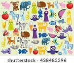 background with animals.... | Shutterstock .eps vector #438482296