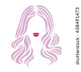 hairstyle sign. beautiful woman ... | Shutterstock .eps vector #438491473