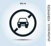 no car icon | Shutterstock .eps vector #438494056