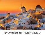 oia at sunset  santorini | Shutterstock . vector #438495310