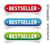 best seller button set   Shutterstock .eps vector #438498118