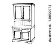 sketch wood cupboard 3d... | Shutterstock .eps vector #438500773