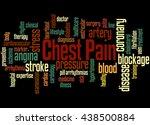 chest pain  word cloud concept... | Shutterstock . vector #438500884
