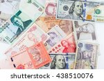 multiple currencies banknotes...   Shutterstock . vector #438510076