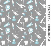 dental seamless background for... | Shutterstock .eps vector #438517636