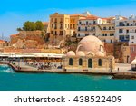 Kucuk Hasan Pasha Mosque on the old harbour of Chania, Crete, Greece
