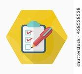 checklist icon  vector flat... | Shutterstock .eps vector #438528538