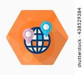 location icon  vector flat long ... | Shutterstock .eps vector #438529384