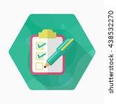 checklist icon  vector flat... | Shutterstock .eps vector #438532270