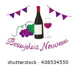beaujolais nouveau | Shutterstock .eps vector #438534550
