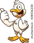 Happy Cartoon Duck. Vector Cli...