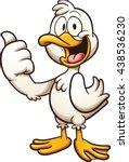 Happy Cartoon Duck. Vector Cli...