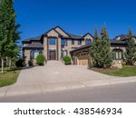 luxury house at sunny day in... | Shutterstock . vector #438546934