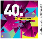 40th anniversary logo with... | Shutterstock .eps vector #438557623
