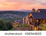 sunset view with mount st... | Shutterstock . vector #438564820