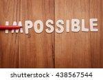 red pen on alphabet letter word ... | Shutterstock . vector #438567544