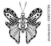 hand drawn ornamental butterfly ... | Shutterstock .eps vector #438573784