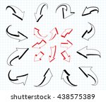 arrows set.hand drawn arrows... | Shutterstock .eps vector #438575389