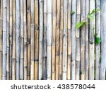 Old Bamboo Fence Background...