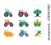 farm farming agriculture logo...   Shutterstock .eps vector #438581980