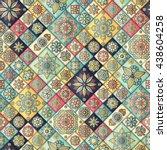 seamless pattern. vintage... | Shutterstock .eps vector #438604258