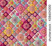 seamless pattern. vintage... | Shutterstock .eps vector #438604300