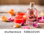 bottle of aroma essential oil... | Shutterstock . vector #438610144