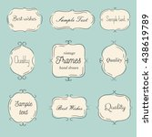vector vintage hand drawn... | Shutterstock .eps vector #438619789