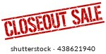 closeout sale stamp.stamp.sign... | Shutterstock .eps vector #438621940