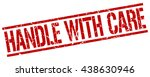 handle with care stamp.stamp... | Shutterstock .eps vector #438630946