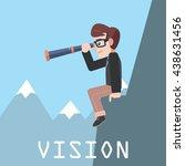 businessman online notification | Shutterstock . vector #438631456