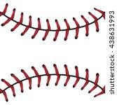 softball  baseball red lace... | Shutterstock .eps vector #438631993