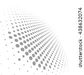 abstract dotted vector... | Shutterstock .eps vector #438632074