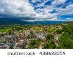 vaduz  liechtenstein aerial... | Shutterstock . vector #438633259