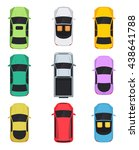 cars top view  convertible ... | Shutterstock .eps vector #438641788