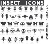 insect icons | Shutterstock .eps vector #438650173