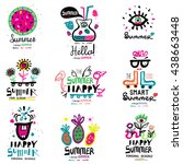 summer season the logo and... | Shutterstock .eps vector #438663448