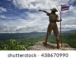 america boy scouts young.  | Shutterstock . vector #438670990