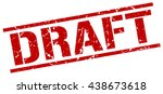 draft stamp.stamp.sign.draft. | Shutterstock .eps vector #438673618