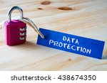 words data protection written... | Shutterstock . vector #438674350