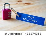 words root security written on... | Shutterstock . vector #438674353