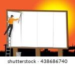 billboard sign indicating copy... | Shutterstock . vector #438686740