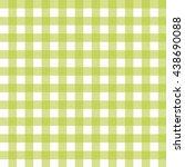 green check pattern white...   Shutterstock .eps vector #438690088