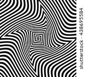 optical striped illusion art... | Shutterstock .eps vector #438695584