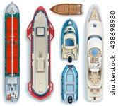 top view of water transport set ... | Shutterstock .eps vector #438698980