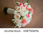 close up of bridal bouquet of... | Shutterstock . vector #438700696
