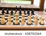 classic wooden chess | Shutterstock . vector #438702364