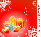 shiny gift boxes | Shutterstock .eps vector #43870879